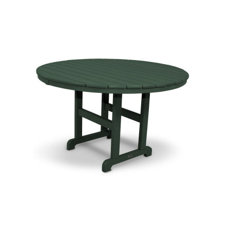 "Monterey Bay Round 48"" Dining Table in Rainforest Canopy"