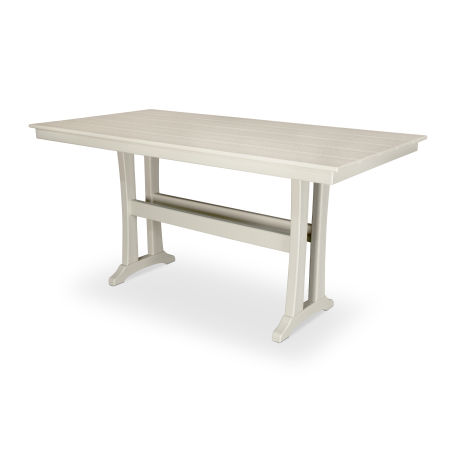 "Farmhouse 37"" x 72"" Counter Table in Sand Castle"