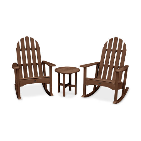 Cape Cod 3-Piece Adirondack Rocker Set in Tree House