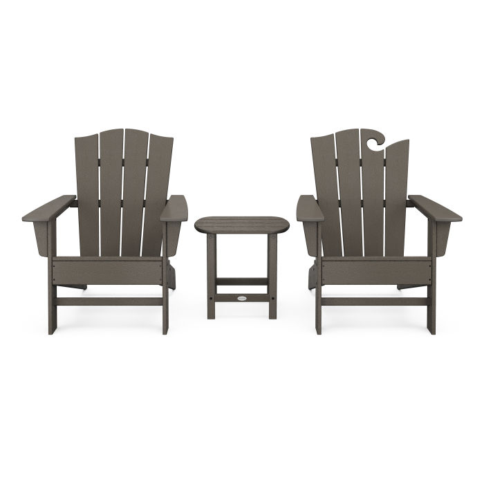 Wave Collection 3-Piece Set in Vintage Finish