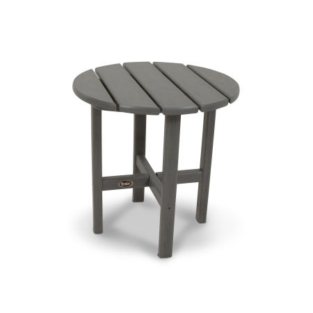 "Cape Cod Round 18"" Side Table in Stepping Stone"