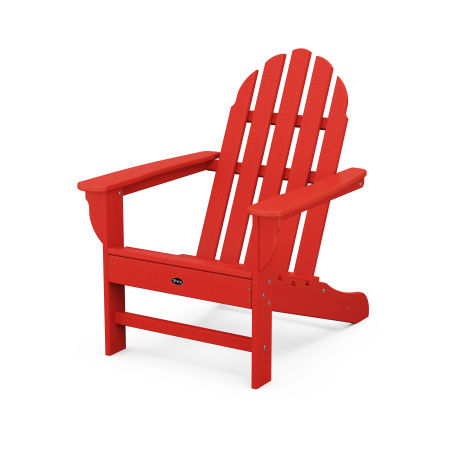 Cape Cod Adirondack Chair in Sunset Red