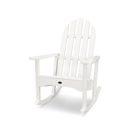 Cape Cod Adirondack Rocking Chair in Classic White