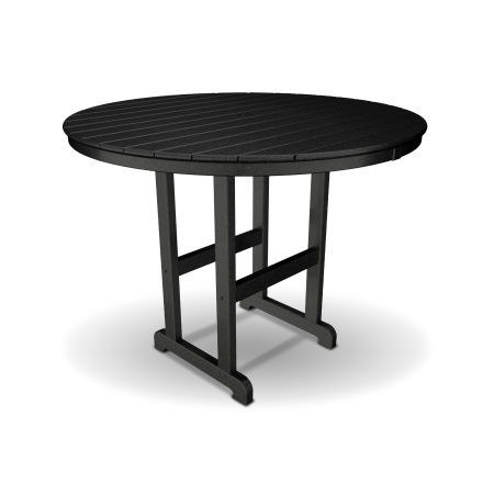 "Monterey Bay Round 48"" Counter Table in Charcoal Black"