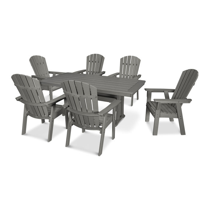 Nautical Adirondack 7-Piece Trestle Dining Set