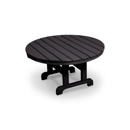 "Cape Cod Round 36"" Conversation Table in Charcoal Black"