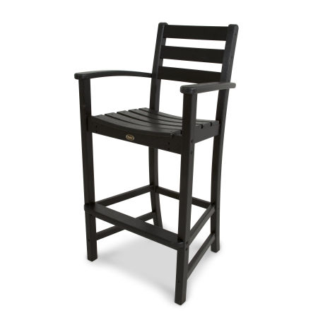 Monterey Bay Bar Arm Chair in Charcoal Black