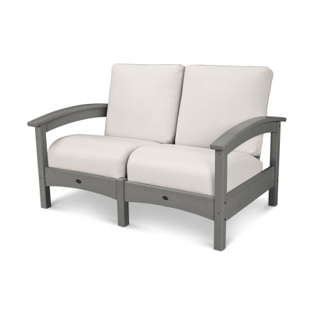 Rockport Club Settee in Stepping Stone / Bird's Eye