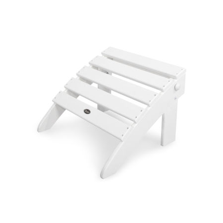 Cape Cod Folding Ottoman in Classic White