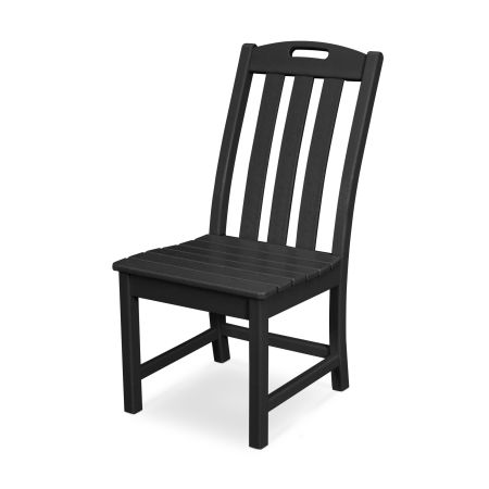 Yacht Club Dining Side Chair in Charcoal Black