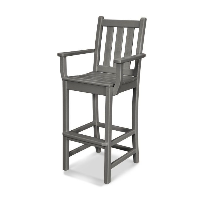 Traditional Garden Bar Arm Chair