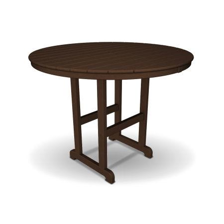"Monterey Bay Round 48"" Counter Table in Vintage Lantern"