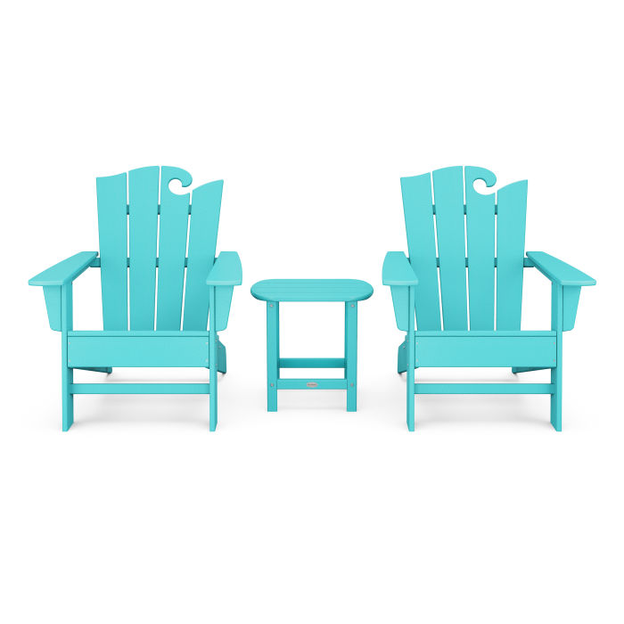 Wave 3-Piece Adirondack Set with The Ocean Chair