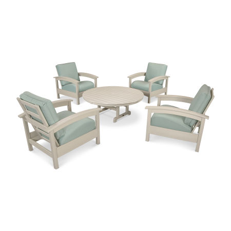 Rockport 5-Piece Deep Seating Set in Sand Castle / Spa