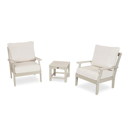 Yacht Club 3-Piece Deep Seating Set