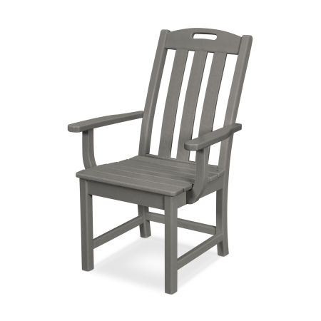 Yacht Club Dining Arm Chair in Stepping Stone