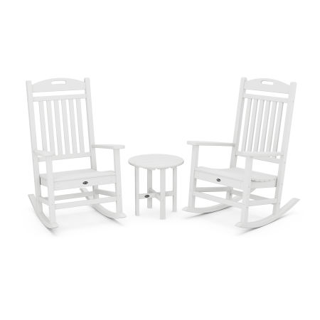 Yacht Club Rocker 3-Piece Set in Classic White
