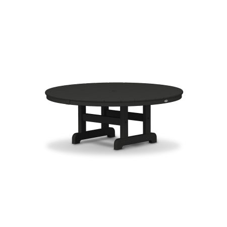 "Cape Cod Round 48"" Conversation Table in Charcoal Black"