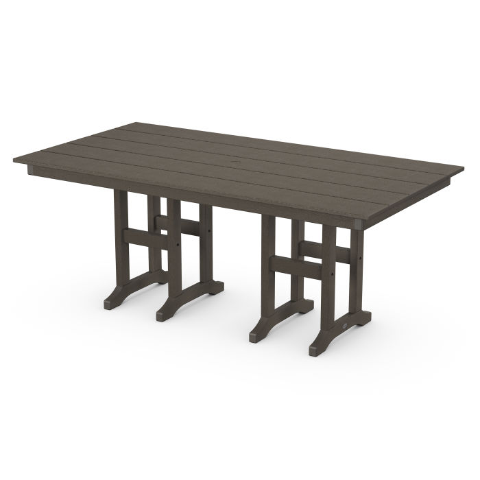 "Farmhouse 37"" x 72"" Dining Table in Vintage Finish"