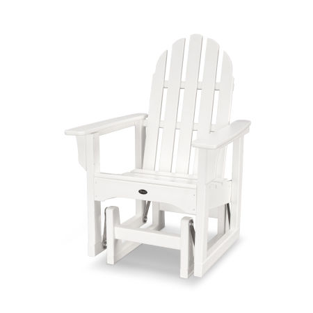 Cape Cod Adirondack Glider Chair in Classic White