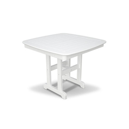 "Yacht Club 37"" Dining Table in Classic White"