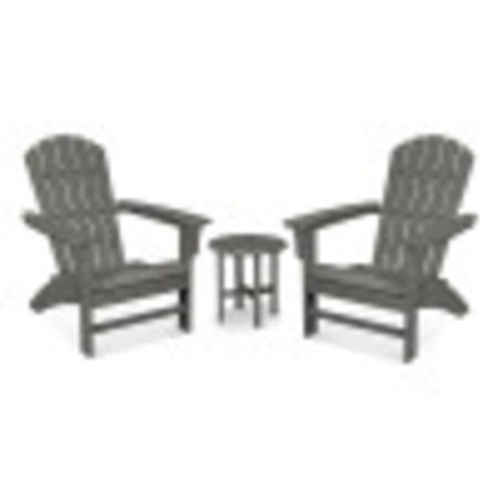Yacht Club 3-Piece Adirondack Set in Stepping Stone
