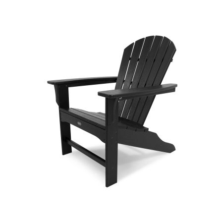 Yacht Club Shellback Adirondack Chair in Charcoal Black