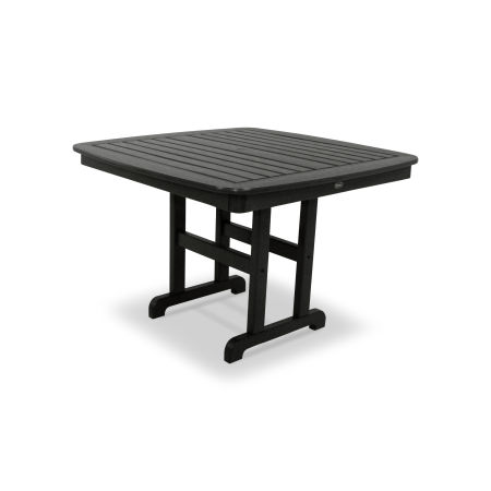"Yacht Club 44"" Dining Table in Charcoal Black"