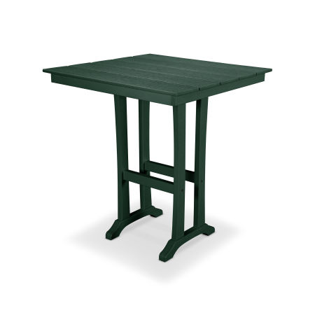 "Farmhouse 37"" Bar Table in Rainforest Canopy"