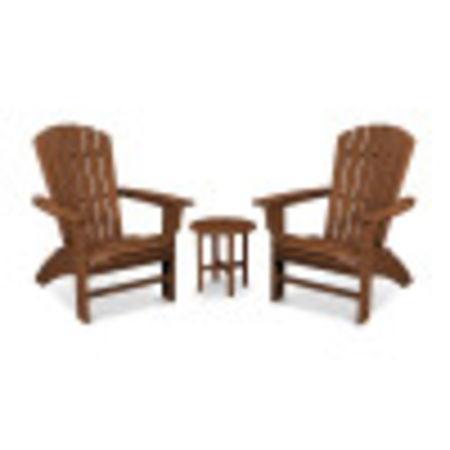 Yacht Club 3-Piece Curveback Adirondack Set in Tree House