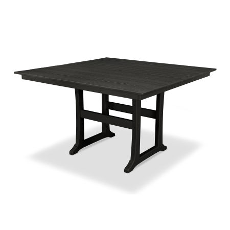 "Farmhouse 59"" Counter Table in Charcoal Black"
