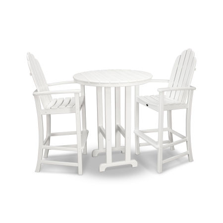 Cape Cod 3-Piece Bar Set in Classic White