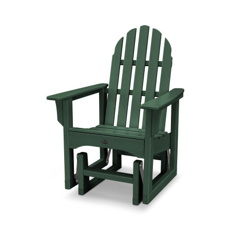 Cape Cod Adirondack Glider Chair in Rainforest Canopy