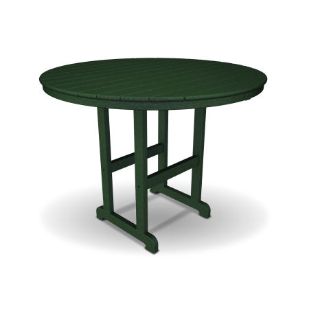 "Monterey Bay Round 48"" Counter Table in Rainforest Canopy"