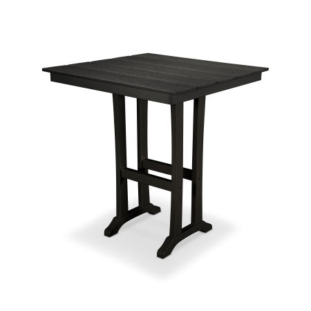 "Farmhouse 37"" Bar Table in Charcoal Black"