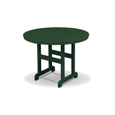 "Monterey Bay Round 36"" Dining Table in Rainforest Canopy"