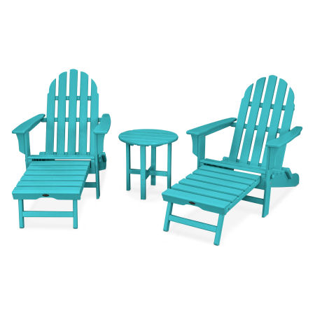 Cape Cod 3-Piece Ultimate Adirondack Set in Aruba