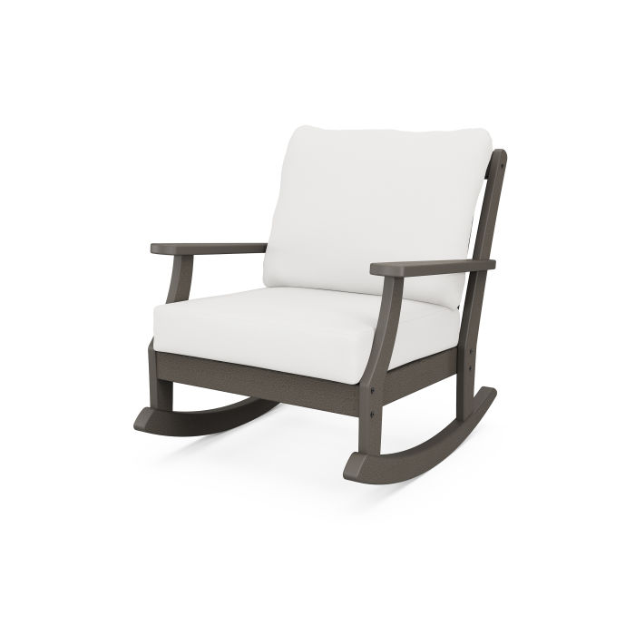 Braxton Deep Seating Rocking Chair in Vintage Finish