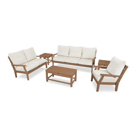 Yacht Club 6-Piece Deep Seating Set in Tree House / Bird's Eye