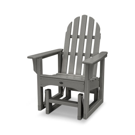 Cape Cod Adirondack Glider Chair in Stepping Stone