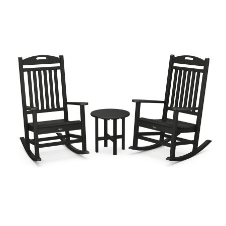 Yacht Club Rocker 3-Piece Set in Charcoal Black