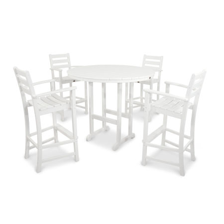 Monterey Bay 5-Piece Bar Set in Classic White