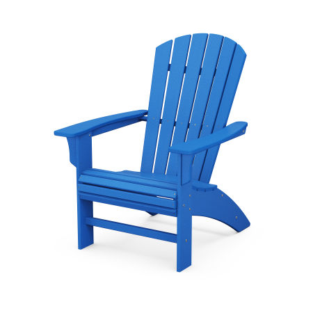 Yacht Club Curveback Adirondack Chair in Pacific Blue
