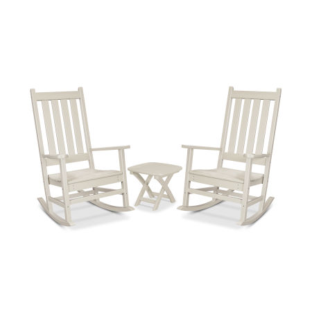 Cape Cod 3-Piece Porch Rocking Chair Set in Sand Castle