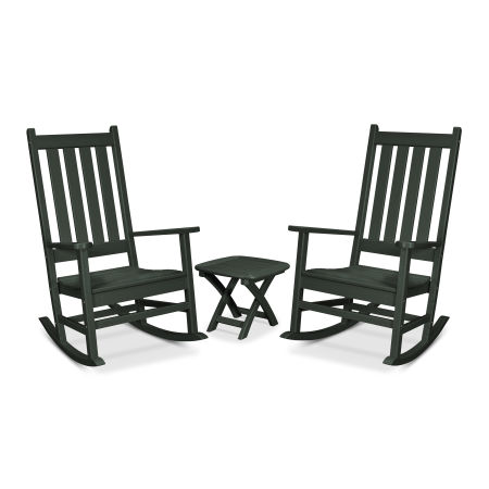 Cape Cod 3-Piece Porch Rocking Chair Set in Rainforest Canopy