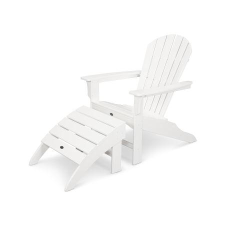 Yacht Club Shellback 2-Piece Adirondack Seating Set in Classic White