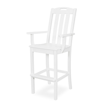Yacht Club Bar Arm Chair in Classic White