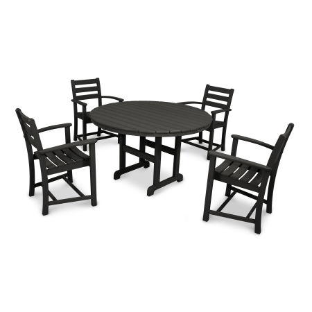 Monterey Bay 5-Piece Dining Set in Charcoal Black