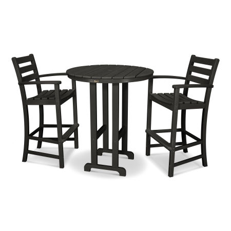 Monterey Bay 3-Piece Bar Set in Charcoal Black