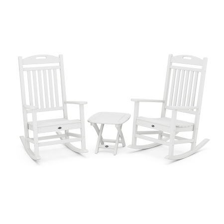 Yacht Club 3-Piece Rocker Set in Classic White